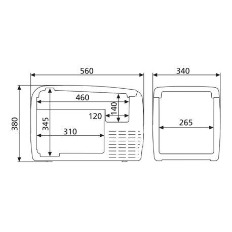 0101434 – Prijenosni hladnjak CDF36 – 10