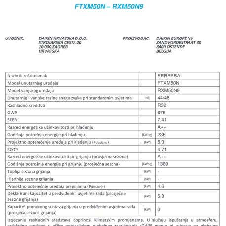 0105106 – DAIKIN PERFERA FTXM50M/RXM50M9 – 7