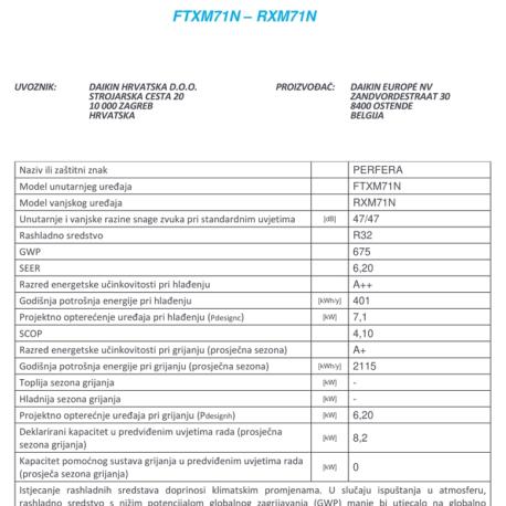 0105196 – DAIKIN PERFERA FTXM71M/RXM71M9 – 4